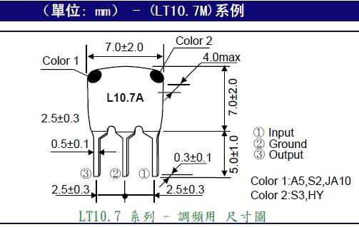 A, 直插(DIP)系列:? 2脚,3脚 ZTA系列陶瓷谐振器(二脚) ZTA1,80-6,00MG--ZTA6,01-13,00MT--ZTA13,01-50,00MX ZTT系列内置负载电容陶瓷谐振器(三脚) ZTT2,00-5,00MG---ZTT5,00-13,00MT---ZTT13,01-25,99MX B, 小尺寸SMD陶振: 2,0M-6,0M体积7,2*3,4 4,0M-7,99M体积4,5*2,0 8,0M-50,0M体积3,7*3,1 12,0M?