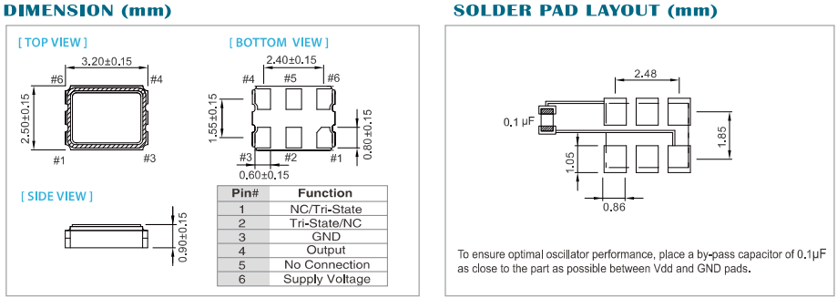 台产泰艺晶振最新高频差分输出石英振荡器型号资料速递