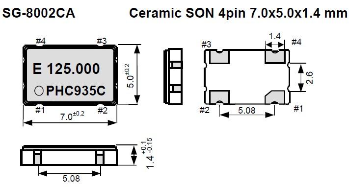 sg-8002ca有源晶振,爱普生晶体振荡器,智能手机晶振