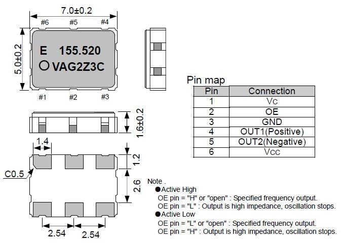 vg-4512ca石英晶体振荡器,vcxo晶振,爱普生晶振-压控