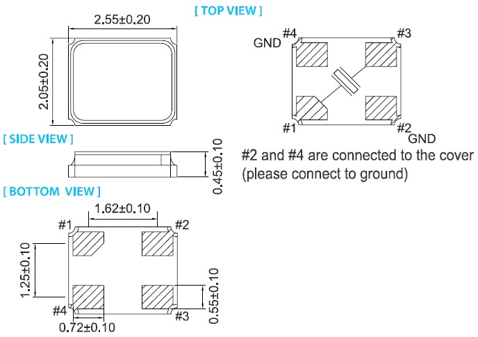 XY-2520晶振,石英晶体振荡器,泰艺晶振授权供应商,泰艺集团供应小尺寸 2.5 x 2.0 x 0.8 mm贴片晶振,8mm宽胶带&卷包自动装配,工作频率表范围12.0MHZ~54.0MHZ,精度偏差±10ppm,负载电容3pF,工作温度可以达到工业级要求-40~+85.适用于蓝牙、手机、无线局域网,办公自动化,音频和视频产品中.