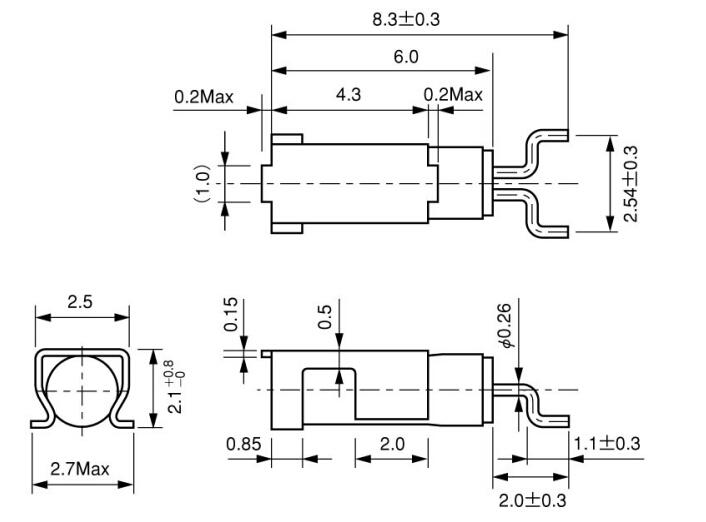 家电产品无源晶振,cmj206t石英晶体,西铁城弯角晶振